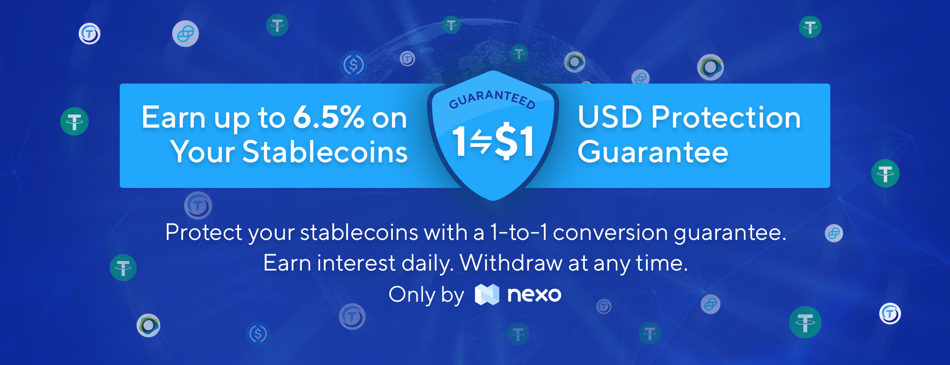 NEXO - Earn Interest and Protect Your Stablecoins with Nexo's 1-to-1